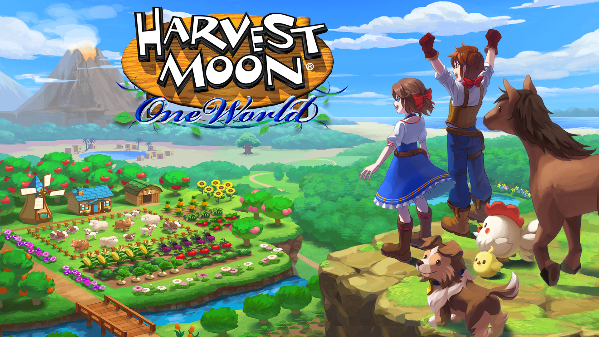 Постер Harvest Moon: One World