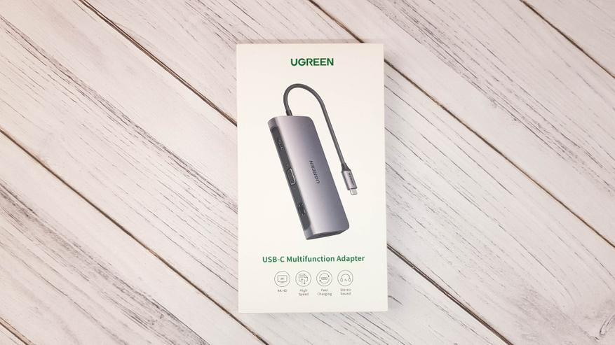 Ugreen USB Type C хаб, HDMI, Dex, Ethernet