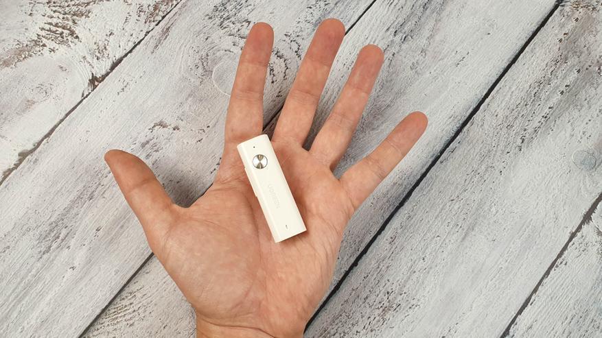 AliExpress: Портативный беспроводной аудиоресивер Ugreen CM110 для наушников с Bluetooth 5 и aptX LL