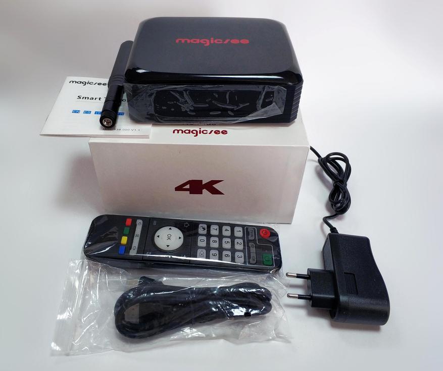 صندوق التلفزيون Magicsee N5 Plus: أملوجيك S905X3 ، خليج SSD / HDD ، MIMO 2 × 2 4