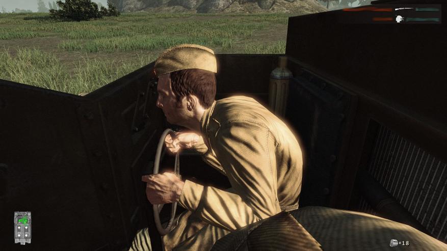 Водитель танкетки глазами пулеметчика